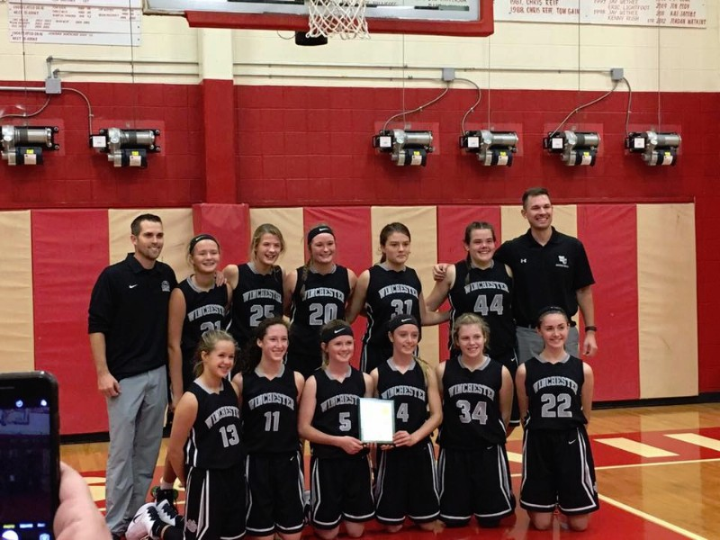 Winchester Schools Wgs 8th Grade Girls Basketball State Champs
